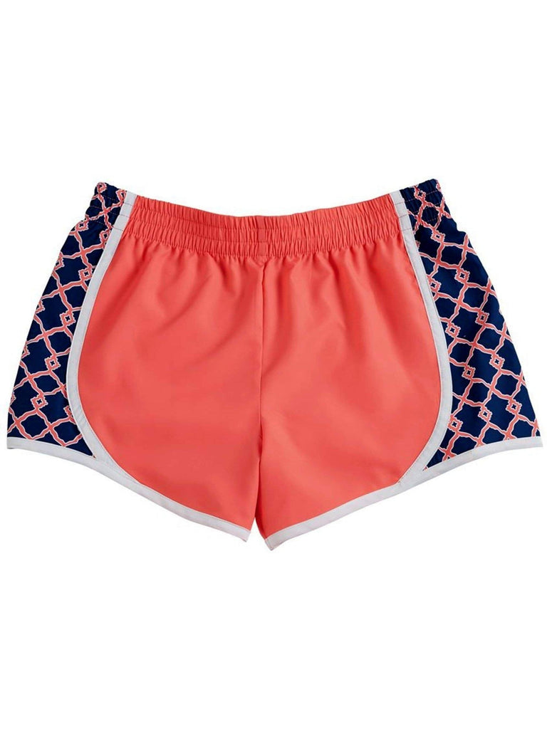 Mud Pie-Harper Track Short, Sherbert-SHORTS-Mud Pie-Chic Boutique and Gift Emporium