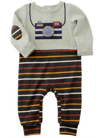 Mud Pie-Oh Snap Footed Sleeper-MUD PIE BABY BOYS-Mud Pie-0-6 Mth-Multi-Chic Boutique and Gift Emporium