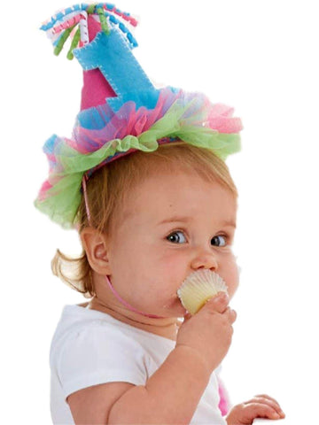 "Mud Pie-Pink ""I'm One"" Party Hat-MUDPIE INFANT GIRLS-Mud Pie-OS-Multi-Chic Boutique and Gift Emporium"