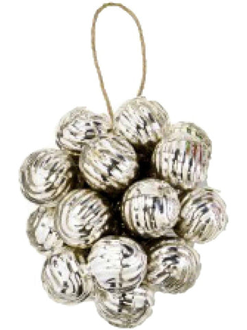 Mud Pie-Swirl Mini Ornament Cluster, Silver-CHRISTMAS ORNAMENTS-Mud Pie-OS-Chic Boutique and Gift Emporium