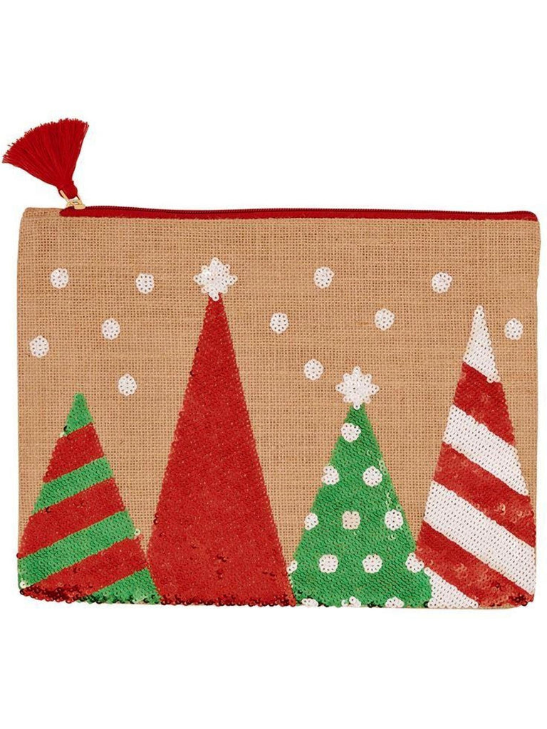 "Mud Pie-Trees Christmas Case, Red-CHRISTMAS GIFTS-Mud Pie-9"" x 12""-Red-Chic Boutique and Gift Emporium"