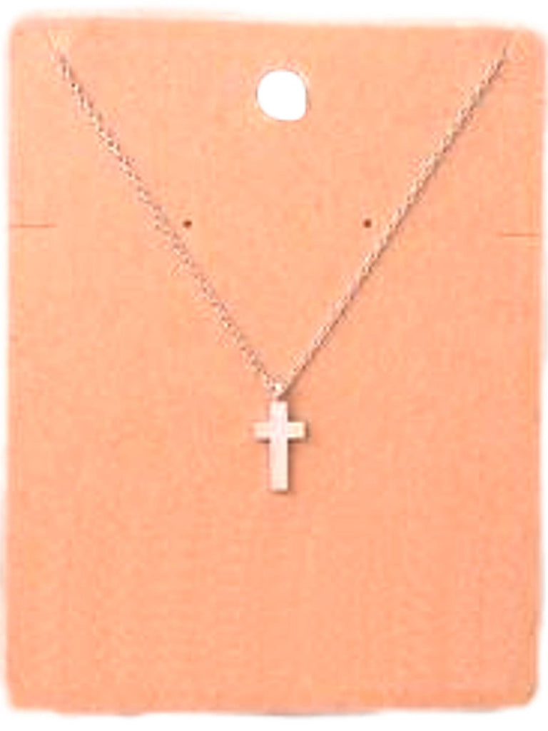 Must Have-Solid Cross Pendant Necklace, Silver-NECKLACES-fame-OS-Silver-Chic Boutique and Gift Emporium