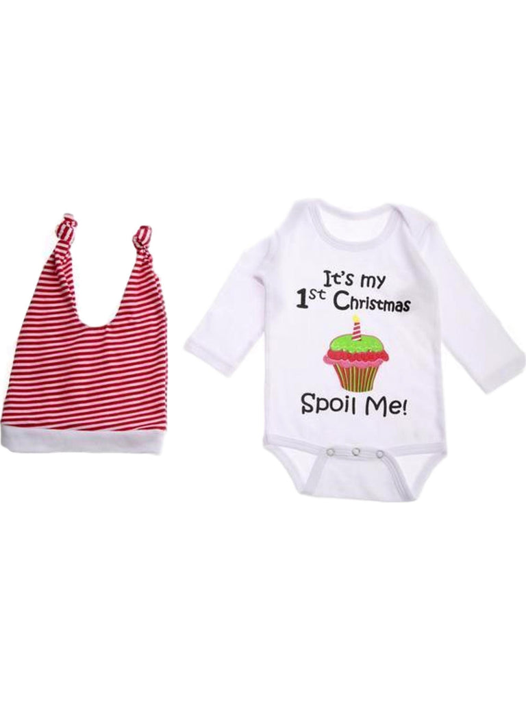 Onesie-It's My 1st Christmas Spoil Me-Chic's Christmas Collection-Ganz-0-6 Mth-Multi-Chic Boutique and Gift Emporium
