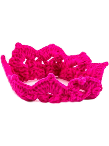 Precious Crochet Crown, Fuchsia-HOT GIFT IDEAS-LA Jewelry Plaza-OS-Fuchsia-Chic Boutique and Gift Emporium