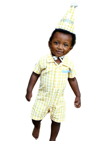 Rugged Butts-Yellow gingham Romper-Flash Sale-Rugged Butts-Chic Boutique and Gift Emporium