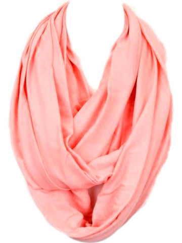 Soft Jersey Infinity, Coral-SCARFS-Hana-OS-Coral-Chic Boutique and Gift Emporium