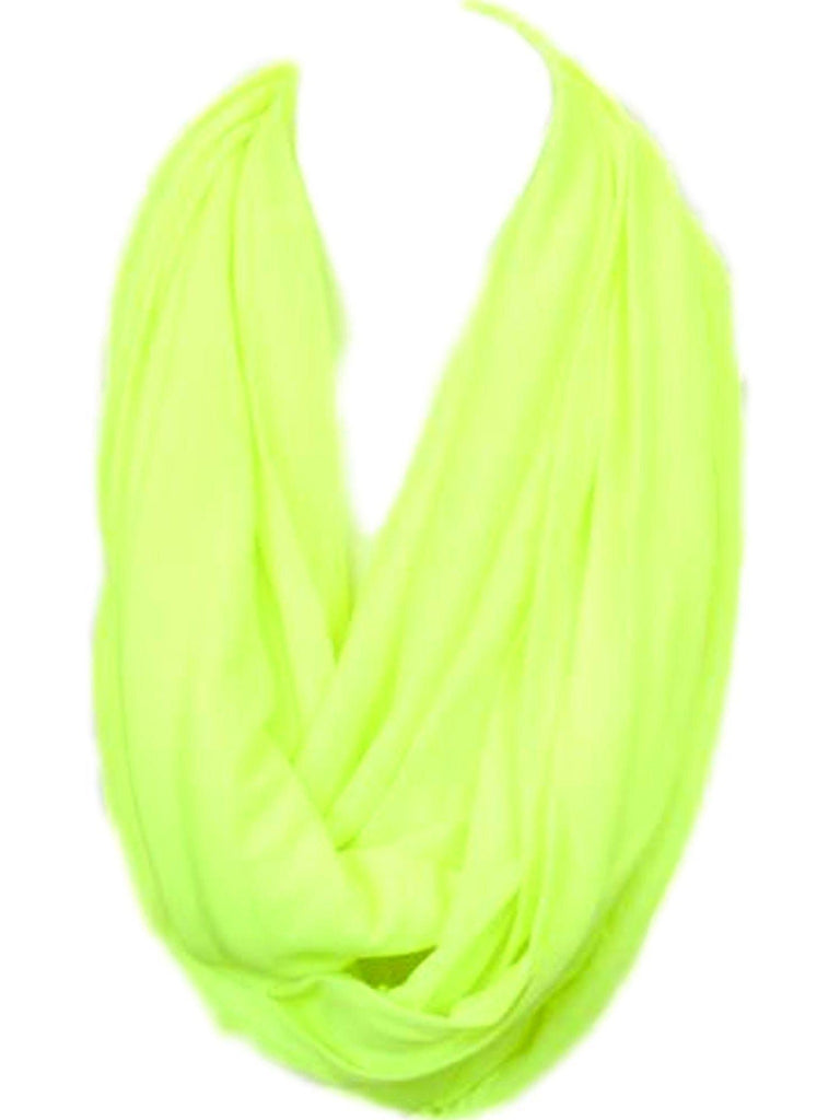 Soft Jersey Infinity, Neon Yellow-SCARFS-Hana-OS-Neon Yellow-Chic Boutique and Gift Emporium