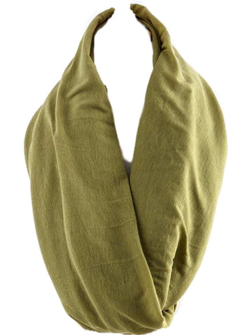 Soft Jersey Infinity, Olive-SCARFS-Hana-OS-Olive-Chic Boutique and Gift Emporium