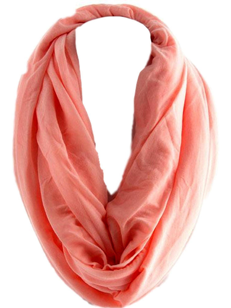 Soft Jersey Infinity, Peach-SCARFS-Hana-OS-Peach-Chic Boutique and Gift Emporium