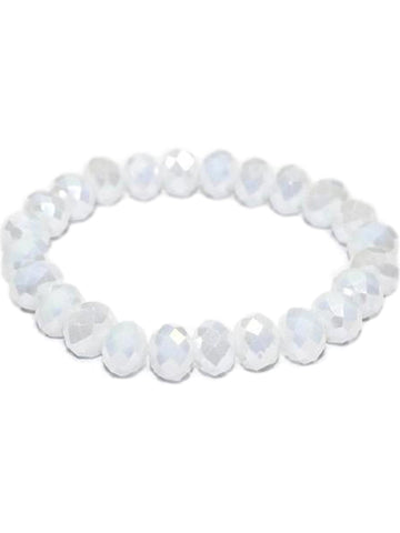 Stunning Crystal Bead Bracelet, Ab White-BRACELETS-Urbanista-10 MM-Ab White-Chic Boutique and Gift Emporium