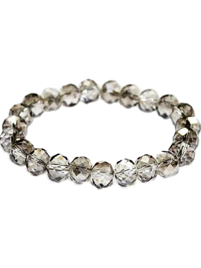 Stunning Crystal Bead Bracelet, Black Diamond-BRACELETS-Urbanista-10 MM-Black Diamond-Chic Boutique and Gift Emporium