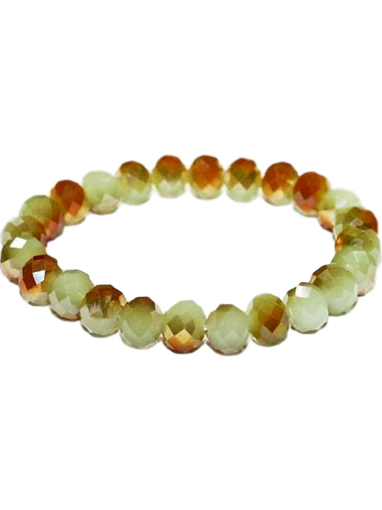 Stunning Crystal Bead Bracelet, Opal Green-BRACELETS-Urbanista-10 MM-Opal Green-Chic Boutique and Gift Emporium