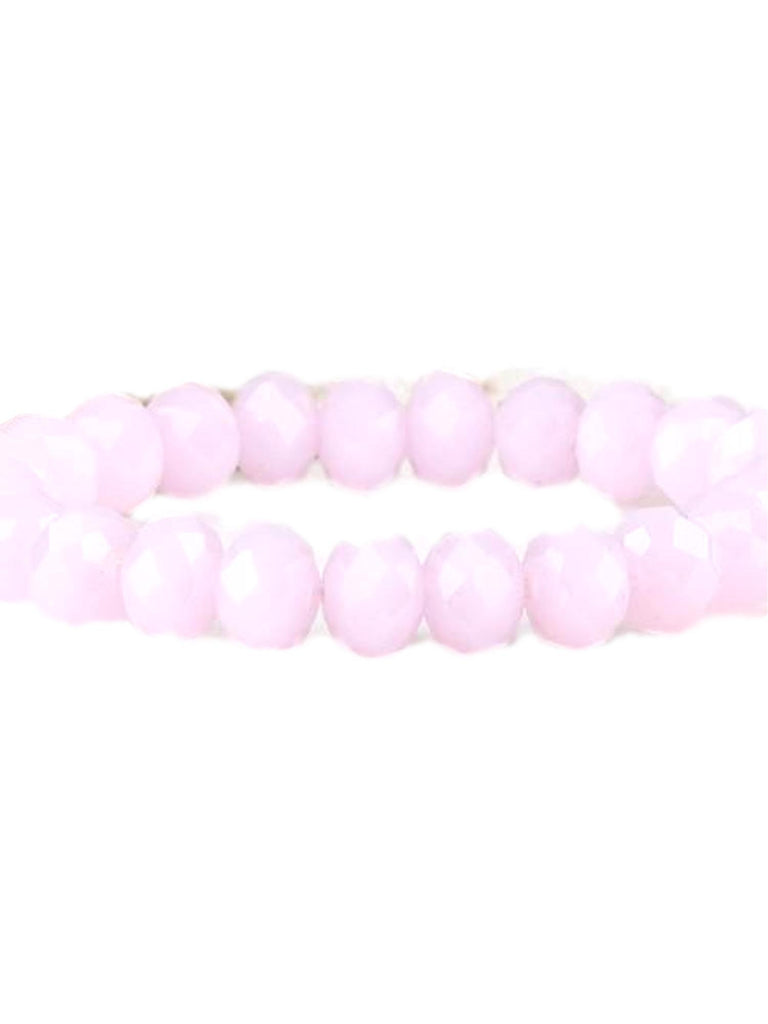 Stunning Crystal Bead Bracelet, Pink-BRACELETS-Urbanista-10 MM-Pink-Chic Boutique and Gift Emporium