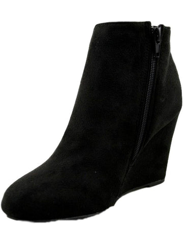 Suede Bootie, Black-BOOTIES-Ama Global-Chic Boutique and Gift Emporium