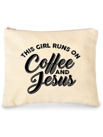 """This Girl Runs on Coffee and jesus Case, White-HOT GIFT IDEAS-Trend Shop-OS-White-Chic Boutique and Gift Emporium"