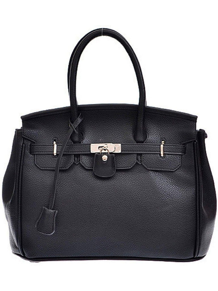 Top Handle Bag, Black-Flash Sale-H & D-OS-Black-Chic Boutique and Gift Emporium