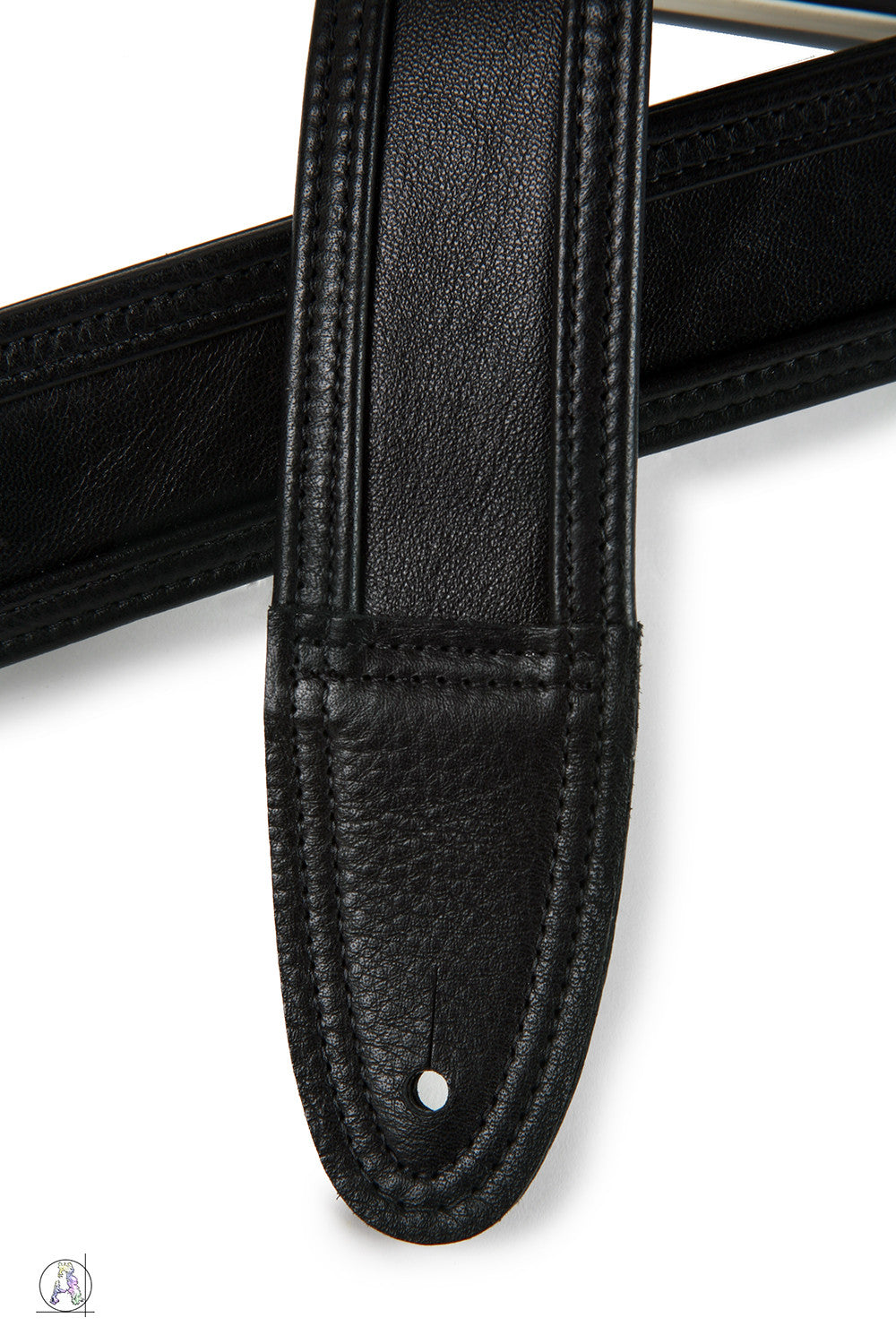 Blackheart 80 - Soft Cabretta Leather and Black Cowhide Guitar Strap