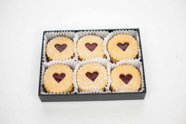 Raspberry Linzer Tarts, small