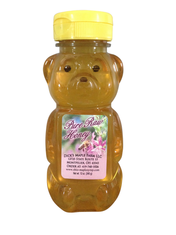 Squeezable Bear - Pure Raw Honey