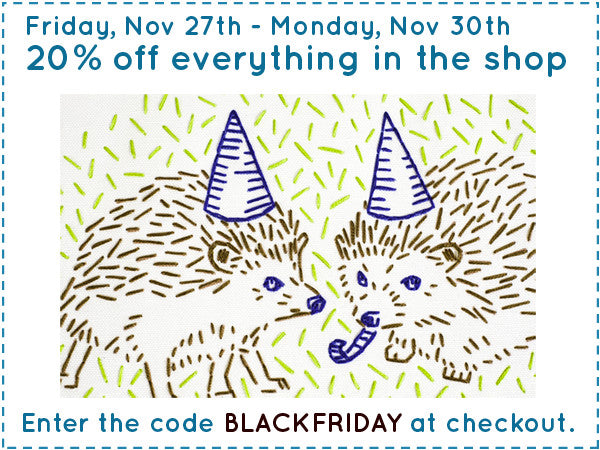 20% off sale November 27th-30th. Enter the code BLACKFRIDAY at checkout.