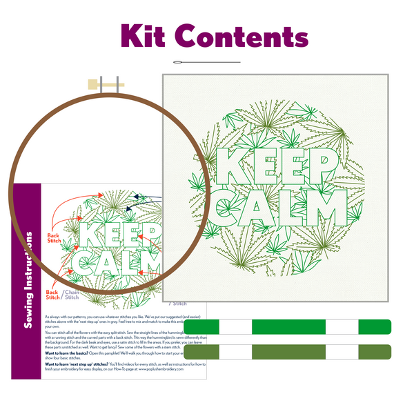 Keep Calm Embroidery Kit