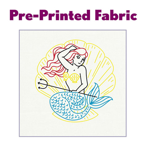 Mermaid Pre-Printed Fabric