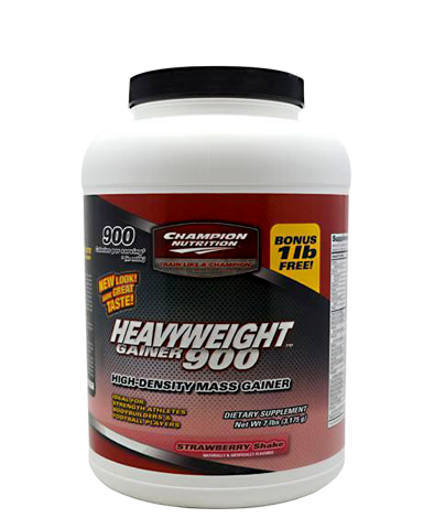 HeavyWeight Gainer 900, 7 lbs, Strawberry