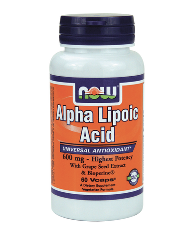 Alpha Lipoic Acid, 600mg, 60 Caps