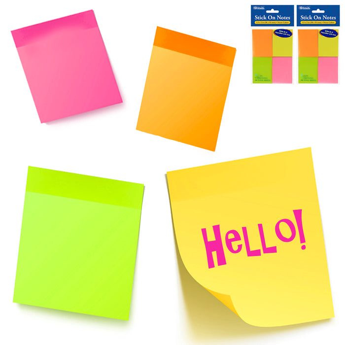 2Pk Sticky Notes Memo Reminder 1.5''x2'' Small Office Supplies Sticker 560 Sheet