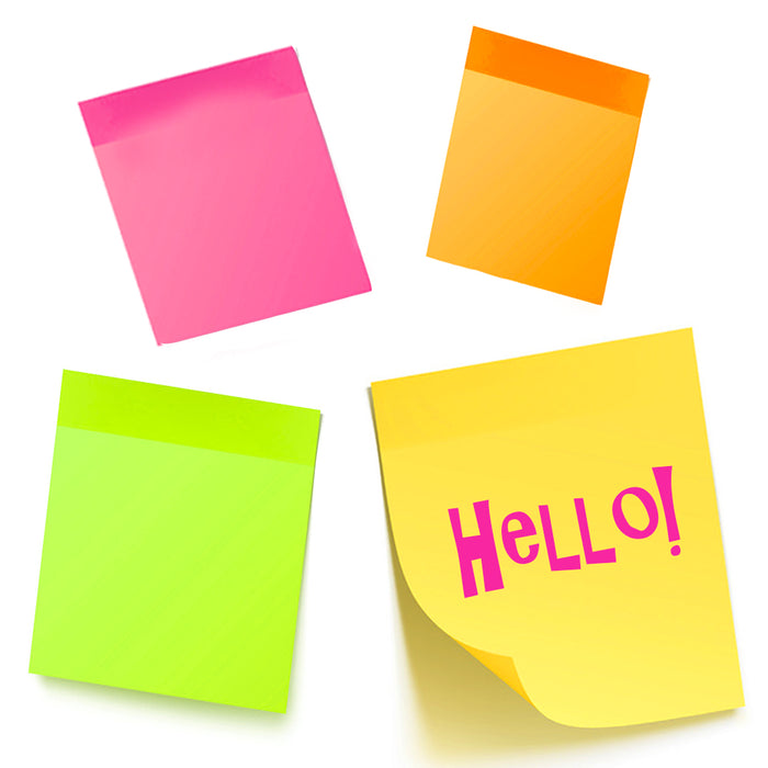 10PK Sticky Notes 2800 Sheets Mini Memo Pads Post Self Adhesive Office 1.5 X 2