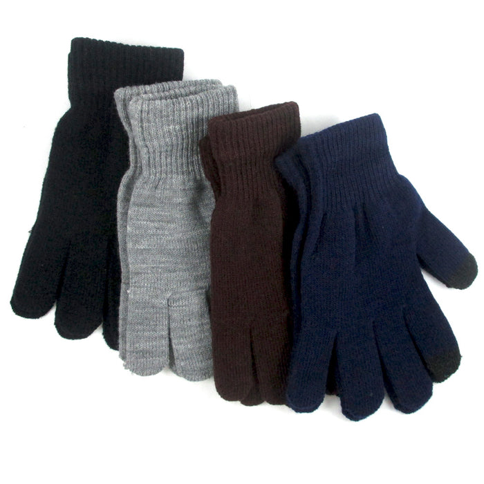 1 Pair Gloves Mittens Stretch Smartphone Texting Touch Screen One Size Insulated