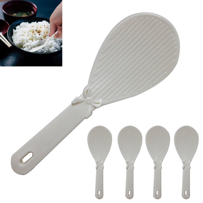 5 Pack Chinese Plastic Non-Stick Spoon Paddle White Plastic Sushi Rice Japanese