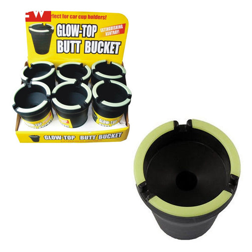 Glow Top Butt Bucket Car Cigarette Ashtray Odor Remover Glow In The Dark Cup New