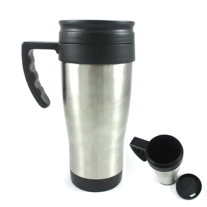 Stainless Steel Insulated Double Wall Travel Coffee Tea Mug Cup 16 Oz Thermo New