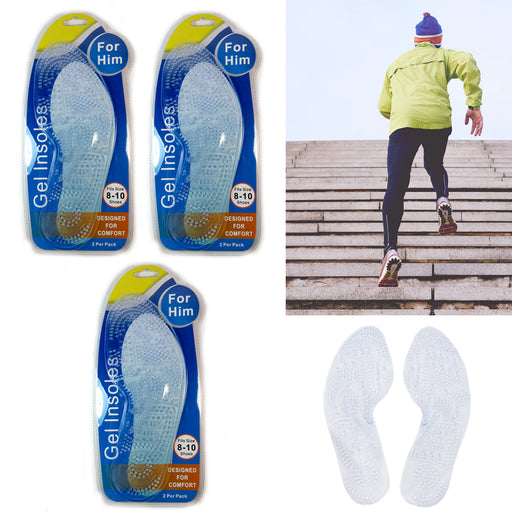 Novelty & Special Use 1 Pair Small Size Silicone Soft Sport Shoe Insole Pad Anti-slip Gel S/l Size Orthotic Arch Support Massaging Insole