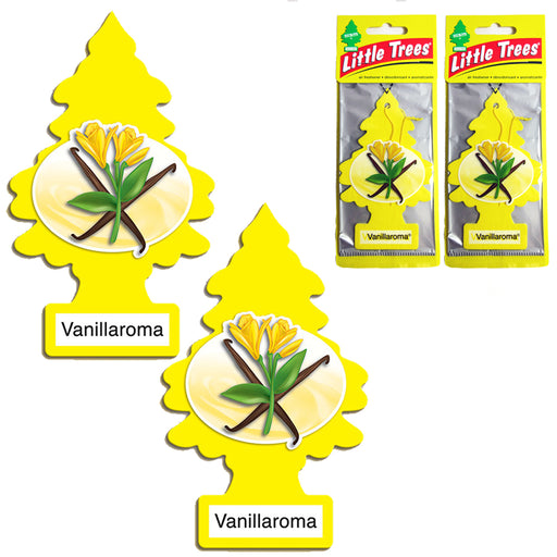 2 Pcs Little Trees Vanilla Air Freshener Home Hanging Car Auto Office Room Scent