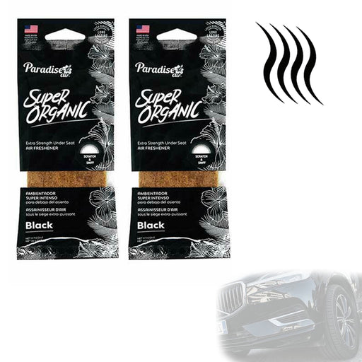 2 Pc Black Scent Car Air Freshener Block Stone Under Seat Office Home Fragrance