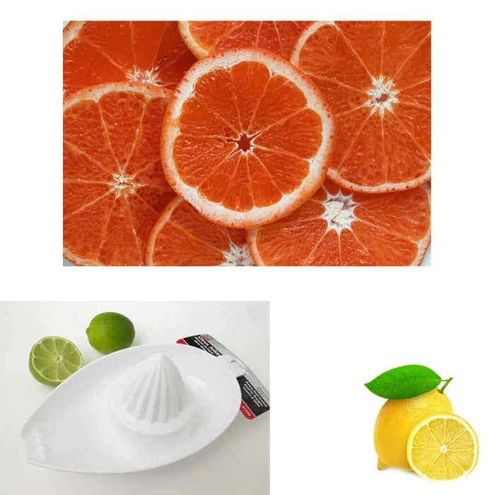 2 Pack Citrus Juicer Orange Lemon Squeezer Hand Held Fruit Press Juice Extractor