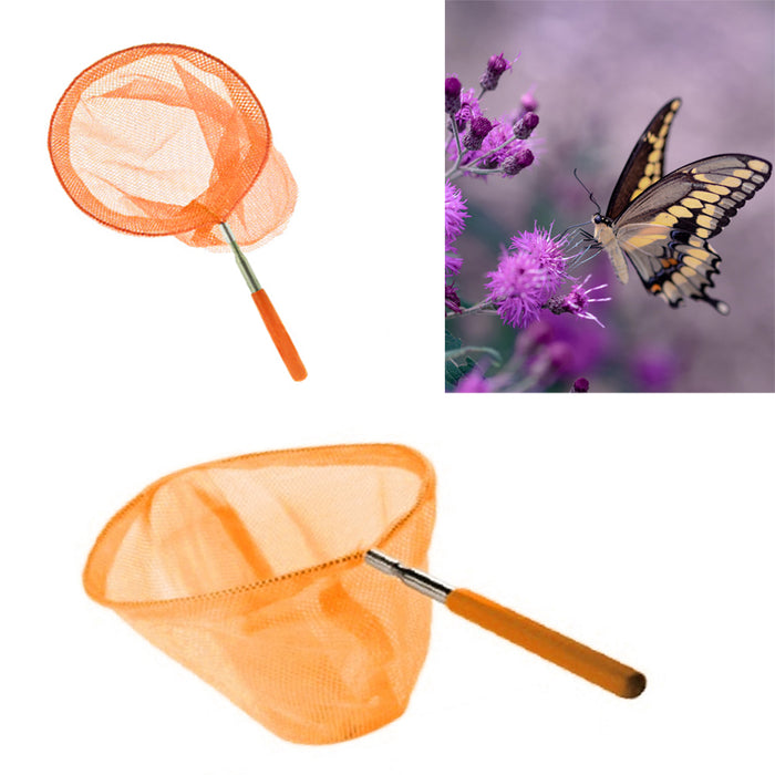 "Bug Catching Net 34"" Extendable Butterfly 8"" Round Telescopic Insect Cage"