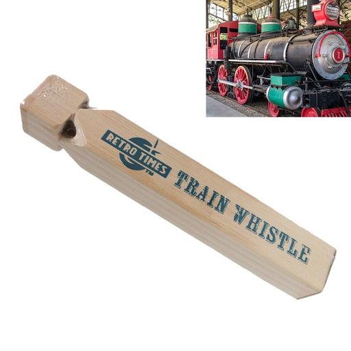 "1 Huge Iron Wooden Train Engine Whistle 8.5"" Choo Choo Sound Locomotive Kids Toy"