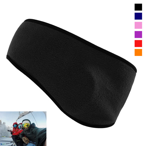 Ear Warmer Head Band Polar Fleece Ski Muffs Unisex Stretch Winter Hat Soft Sport