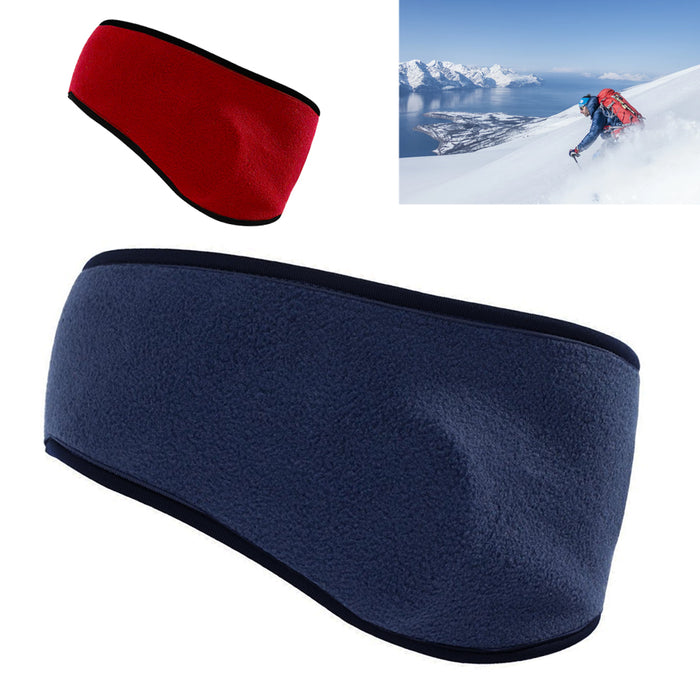 2X Head Band Ear Warmers Mens Womens Winter Fleece Soft Stretch Muffs Ski Sports
