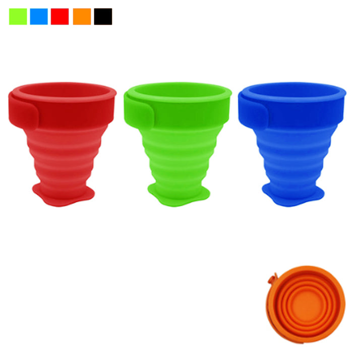 3PC Telescopic Drinking Silicone Collapsible Folding Cup Portable Travel Outdoor