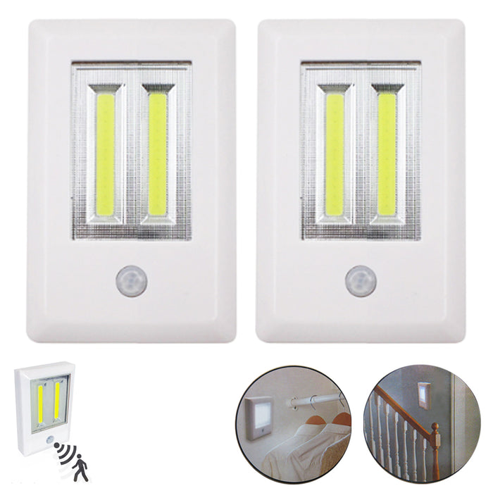 2 Pack Wireless Motion Sensor LED Night Light Ultra Bright Battery Operated Lamp