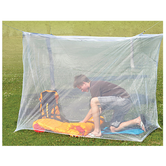 Camping Mosquito Insect Net Four Corners Outdoor Camping Netting Hiking White