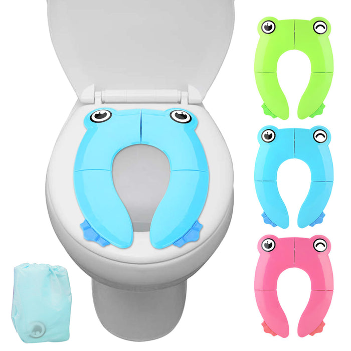 Upgraded Potty Seat Folding Travel Portable Cover Pad Toddler Kids Training Safe