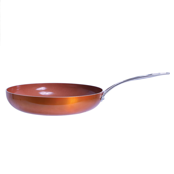 "8"" Ceramic Non Stick Frying Pan Copper Coated Healthy Frypan Round Eco Friendly"
