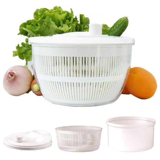 Salad Spinner Lettuce Dryer Vegetable Pouring Spout Serving Draining Bowl Washer