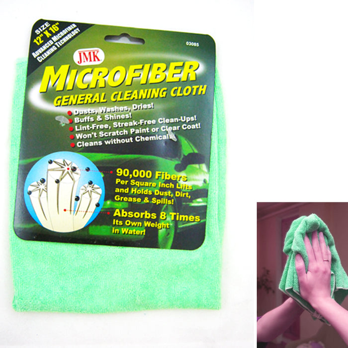 "3 x Microfiber Towel 12""x16"" Auto Detailing Car Cloths Cleaning Polishing Dry !!"