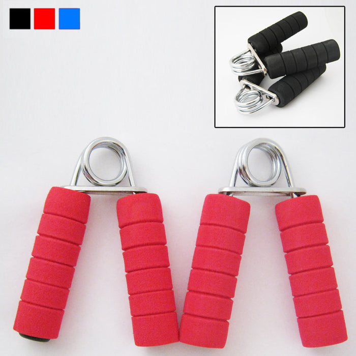 New Foam Hand Grip Fitness Exercise Wrist Arm Train Strength Builder 2 Pcs Pack